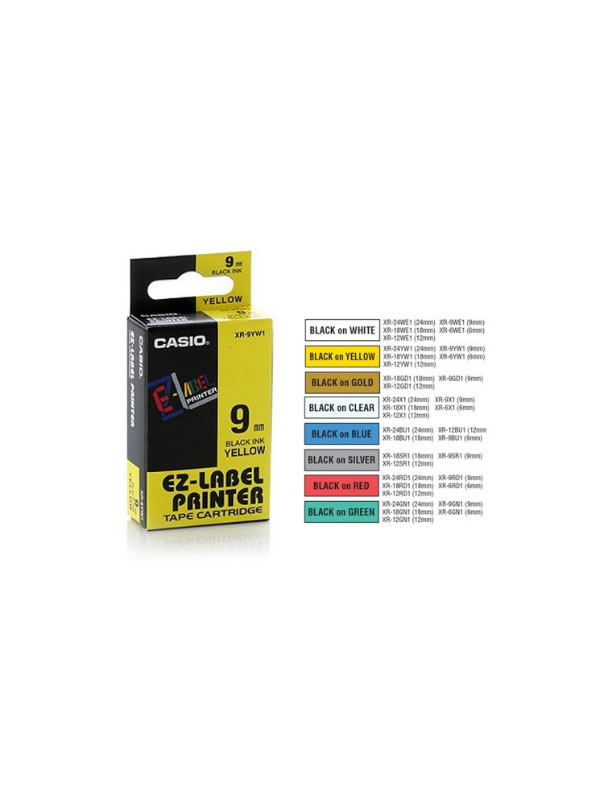 Casio Label Printer tape cartridge 9mm  | Dechtech Online Store Kenya